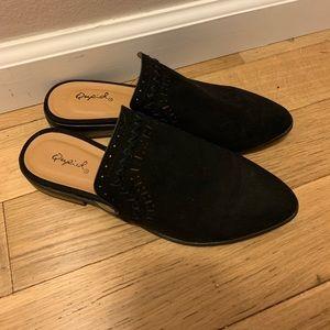 Shoes - Black Qupid Mules